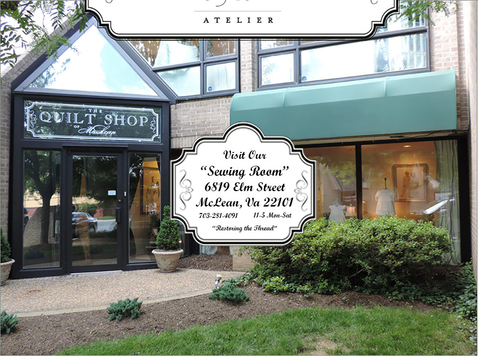 Quilt Shop of McLean and Atelier front entrance